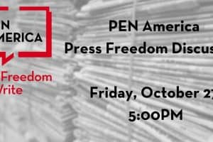 Press Freedom Discussion event graphic