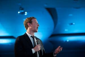 mark zuckerberg speaks to a crowd