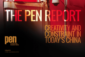 PEN Report: Creativity And Constraint in Today's China