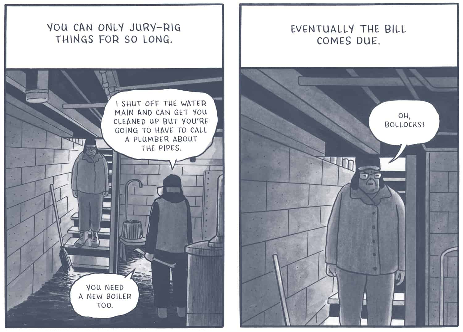 panel from Off Season by James Sturm