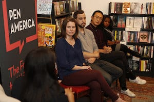 panelists at PEN Across America event in Detroit