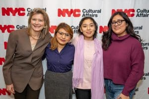 Jennifer Egan with DREAMers at the Mayor's Grant event