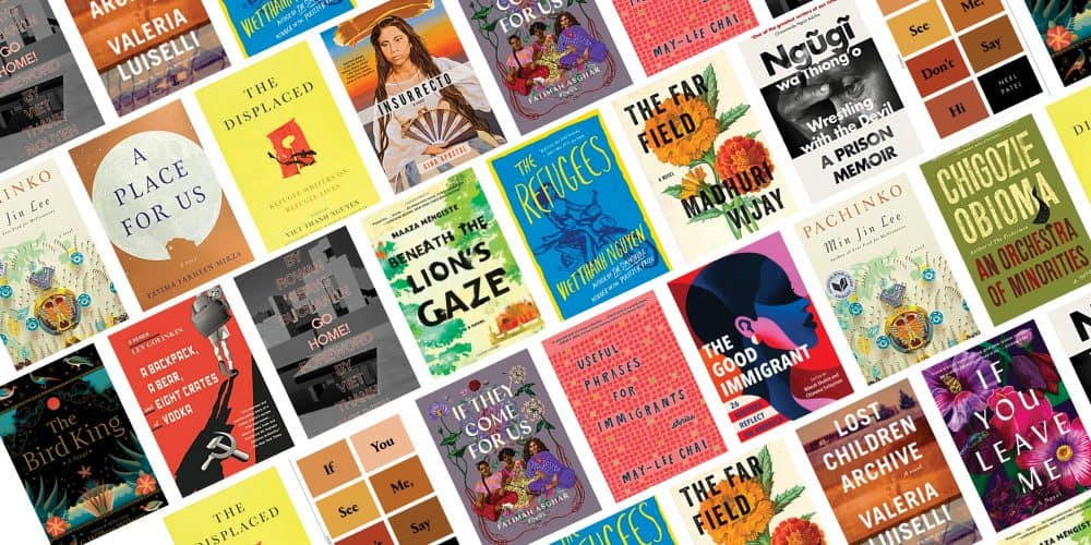 collage of book covers for the Diaspora and Migration reading list
