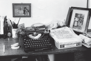 Sandra Cineros's writing desk