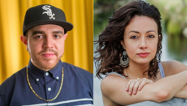 headshots of Jose Olivarez and Jennine Capo Crucet