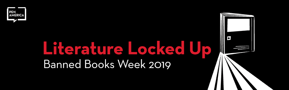 banner for Literature Locked Up Banned Books Week 2019