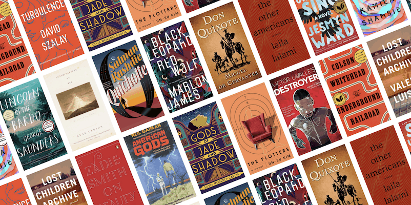 book covers from the real and reimagined reading list