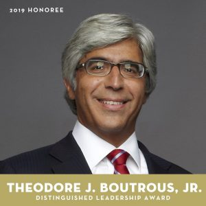 2019 Distinguished Leadership Award honoree: Theodore Boutrous