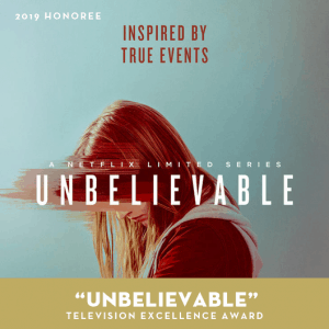 Unbelievable, Litfest 2019, Television Excellence Award Honoree