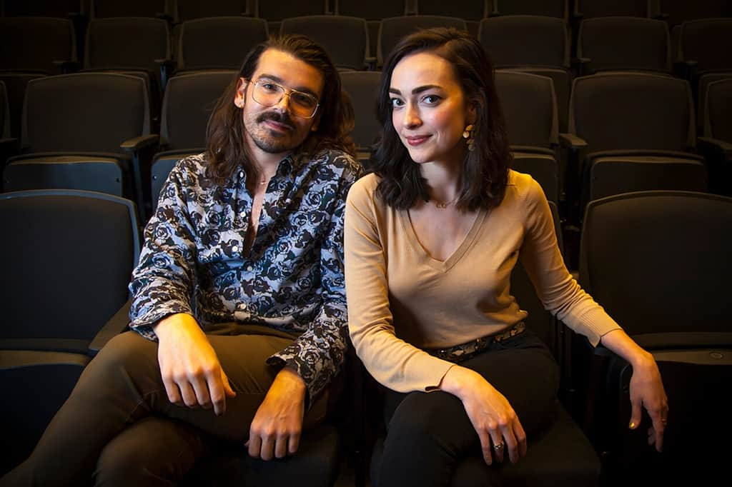 Playwrights Brigham Mosley and Janielle Kastner
