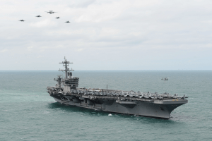 the uss theodore roosevelt at sea