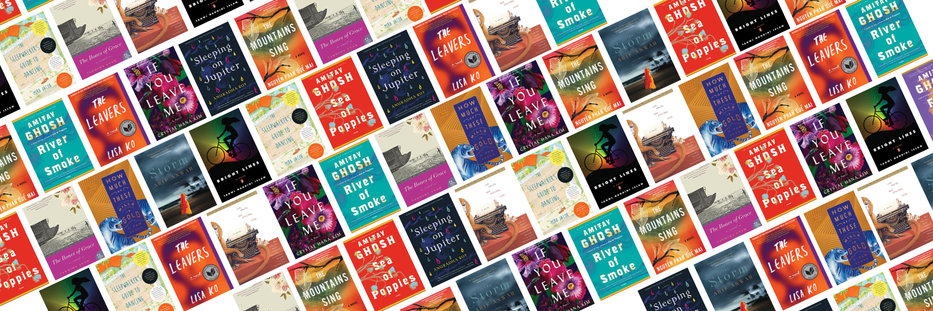 Asian American Writers Workshop APA Heritage Month reading list - book covers