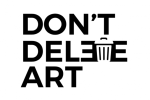 logo of dont delete art campaign