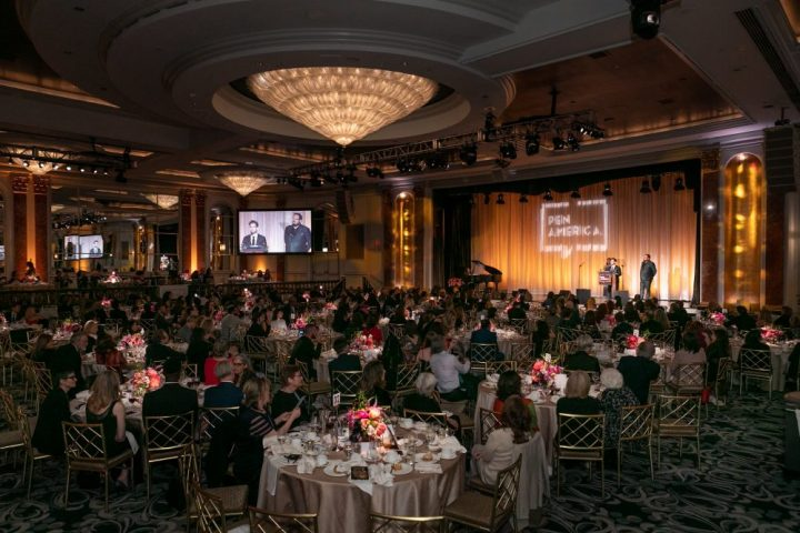 Attendees seated at tables at the 2019 PEN America LitFest Gala