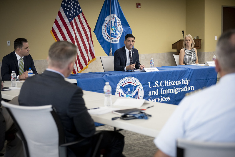 acting DHS secretary speaks at event