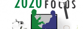 """Mayborn Conference 2020 Logo with text """"Bringing Truth into Focus"""""""