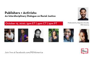 Publishers and Activists: event information and headshots