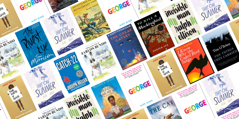 Banned Books Week 2020 reading list - book covers